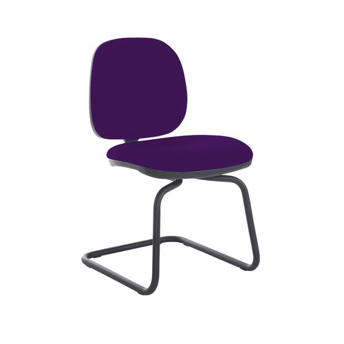 Jota fabric visitors chair with no arms - Tarot Purple