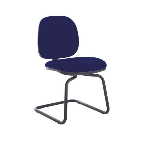 Jota fabric visitors chair with no arms - Ocean Blue