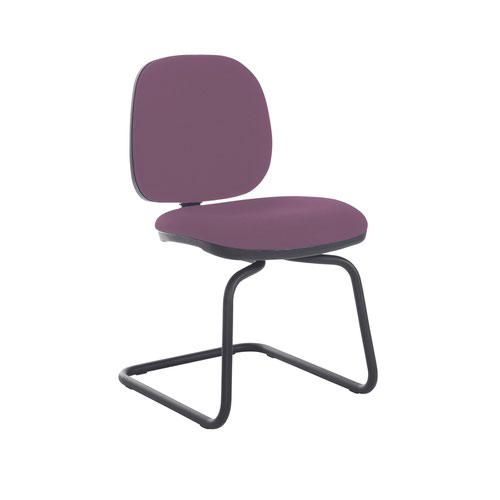 Jota fabric visitors chair with no arms - Bridgetown Purple