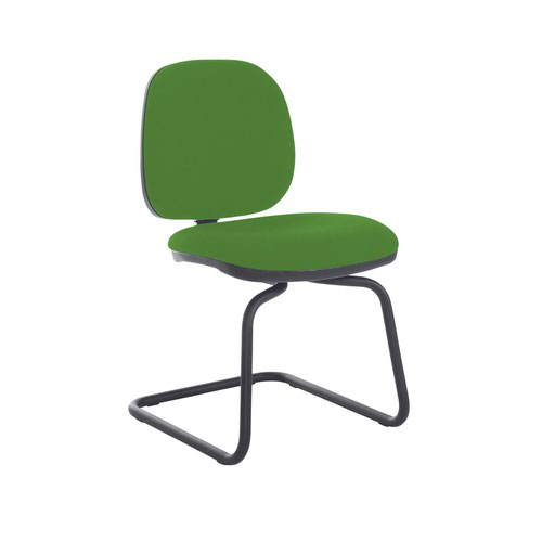 Jota fabric visitors chair with no arms - Lombok Green