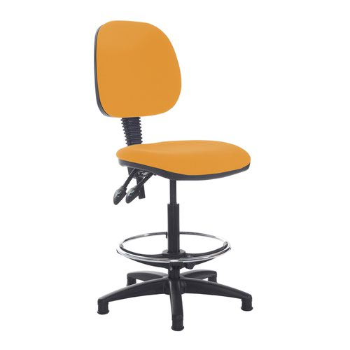Jota draughtsmans chair with no arms - Solano Yellow