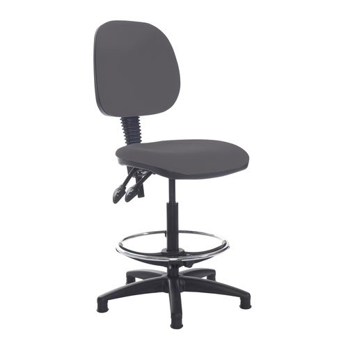 Jota draughtsmans chair with no arms - Blizzard Grey
