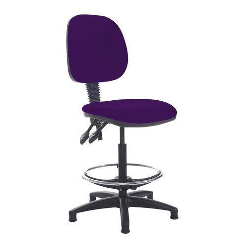 Jota draughtsmans chair with no arms - Tarot Purple