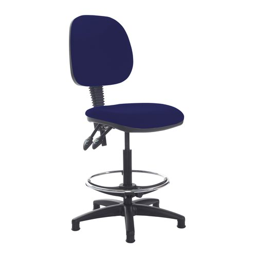 Jota draughtsmans chair with no arms - Ocean Blue