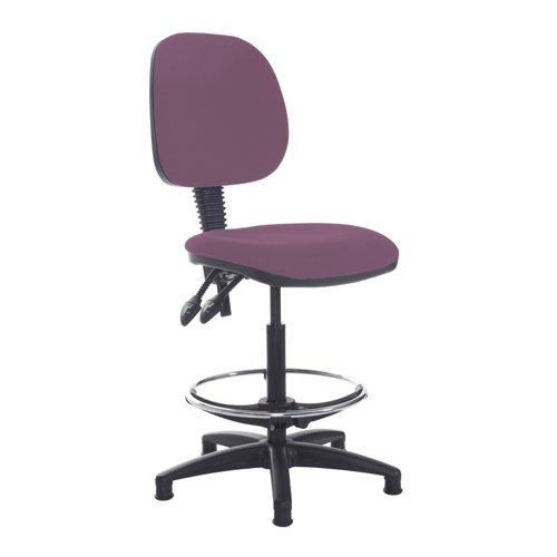 Jota draughtsmans chair with no arms - Bridgetown Purple