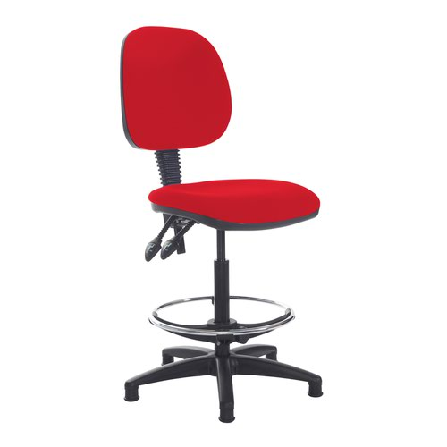 Jota draughtsmans chair with no arms - Belize Red