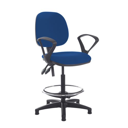 Jota draughtsmans chair with fixed arms - Curacao Blue