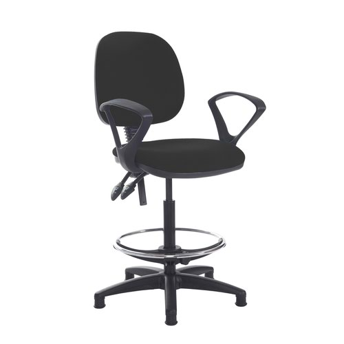 Jota draughtsmans chair with fixed arms - Havana Black