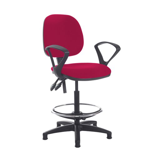 Jota draughtsmans chair with fixed arms - Diablo Pink