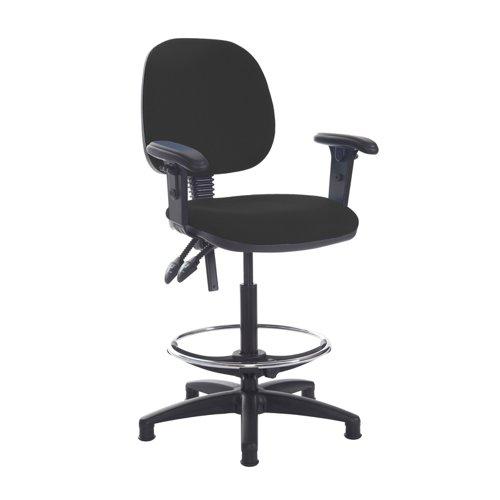 Jota draughtsmans chair with adjustable arms - Havana Black