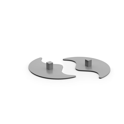 Vibe designer floor standing screen feet (pair) - silver