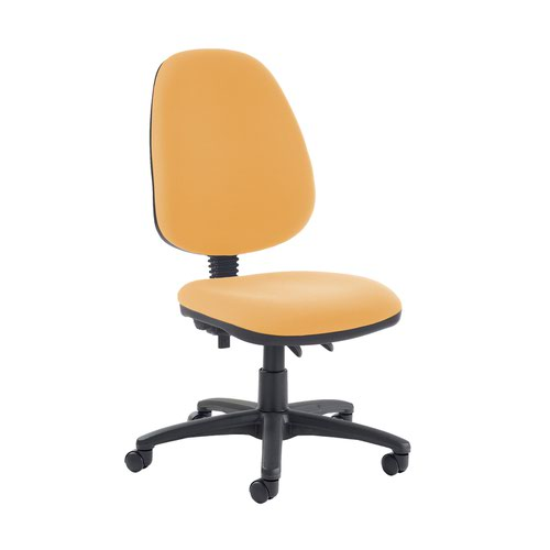 Jota high back PCB operator chair with no arms - Solano Yellow