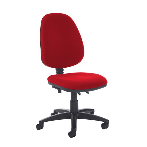 Jota high back PCB operator chair with no arms - Panama Red