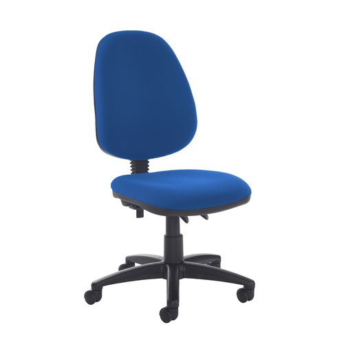 Jota high back PCB operator chair with no arms - Scuba Blue