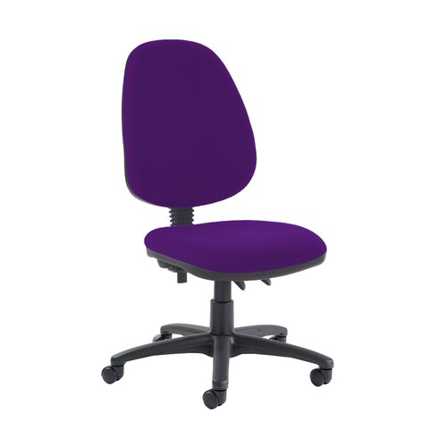 Jota high back PCB operator chair with no arms - Tarot Purple