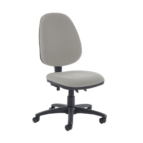 Jota high back PCB operator chair with no arms - Slip Grey