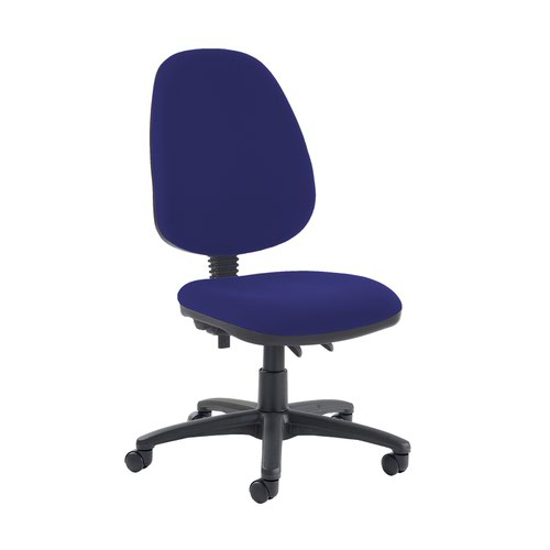 Jota high back PCB operator chair with no arms - Ocean Blue