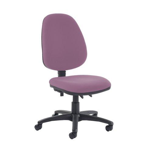 Jota high back PCB operator chair with no arms - Bridgetown Purple