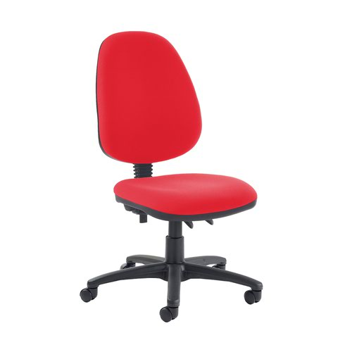 Jota high back PCB operator chair with no arms - Belize Red