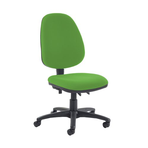 Jota high back PCB operator chair with no arms - Lombok Green