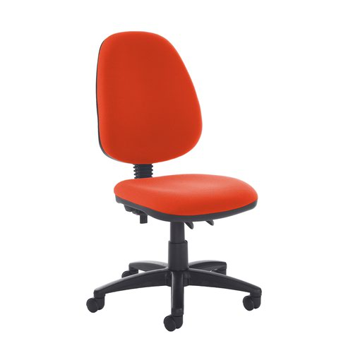 Jota high back PCB operator chair with no arms - Tortuga Orange