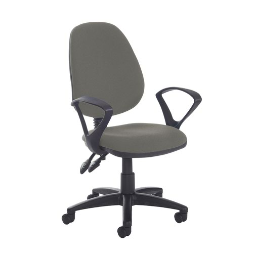 Jota high back PCB operator chair with fixed arms - Slip Grey