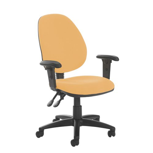 Jota high back PCB operator chair with adjustable arms - Solano Yellow