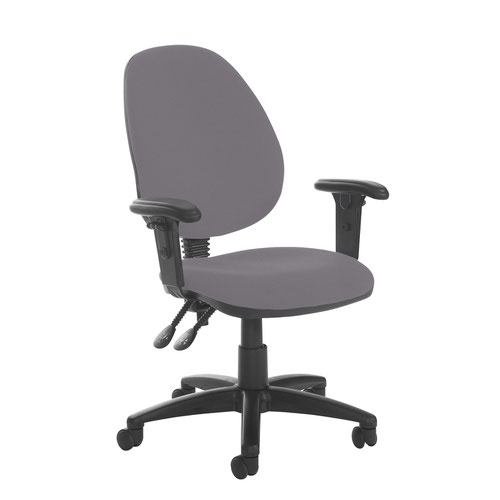 Jota high back PCB operator chair with adjustable arms - Blizzard Grey
