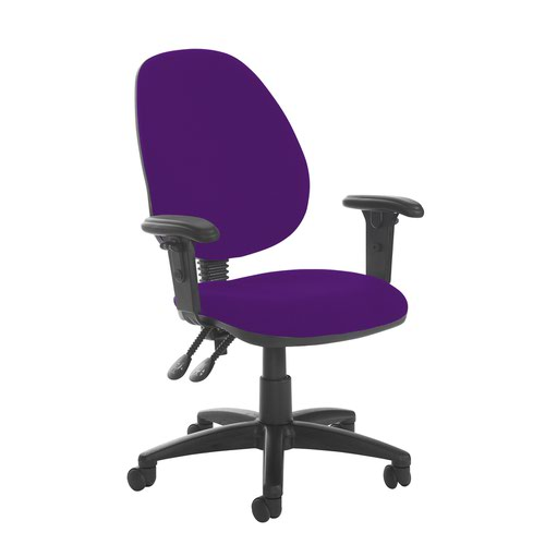 Jota high back PCB operator chair with adjustable arms - Tarot Purple