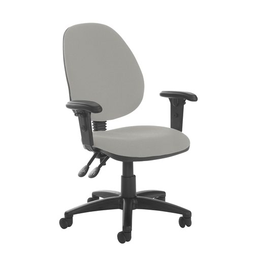 Jota high back PCB operator chair with adjustable arms - Slip Grey