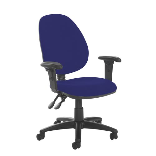 Jota high back PCB operator chair with adjustable arms - Ocean Blue