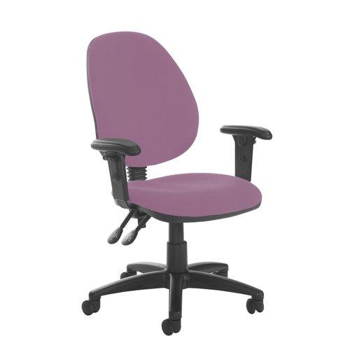 Jota high back PCB operator chair with adjustable arms - Bridgetown Purple