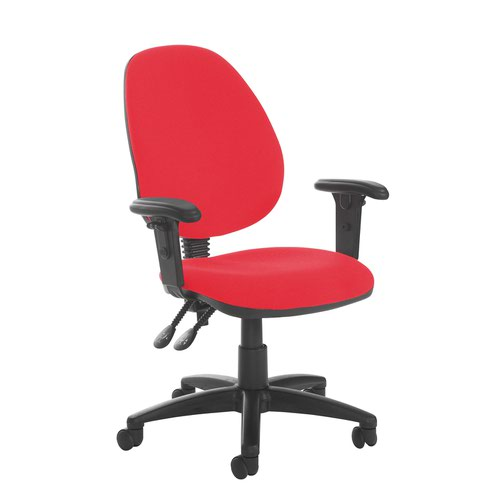 Jota high back PCB operator chair with adjustable arms - Belize Red
