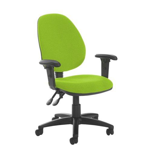 Jota high back PCB operator chair with adjustable arms - Madura Green