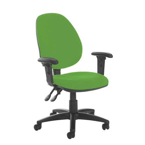 Jota high back PCB operator chair with adjustable arms - Lombok Green