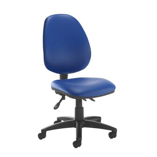 Jota high back asynchro operators chair with no arms - Ocean Blue vinyl