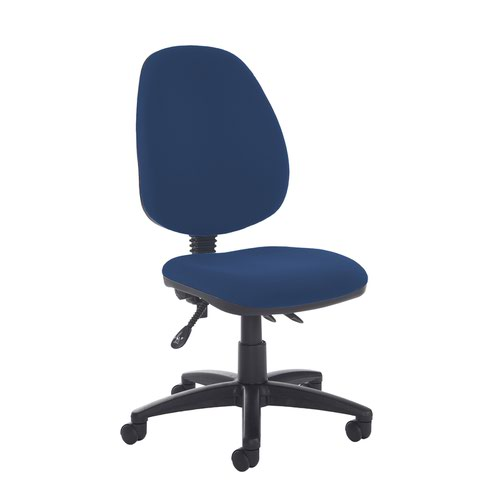 Jota high back asynchro operators chair with no arms - Costa Blue