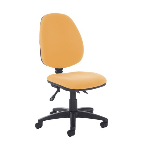 Jota high back asynchro operators chair with no arms - Solano Yellow