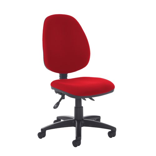 Jota high back asynchro operators chair with no arms - Panama Red