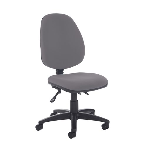 Jota high back asynchro operators chair with no arms - Blizzard Grey
