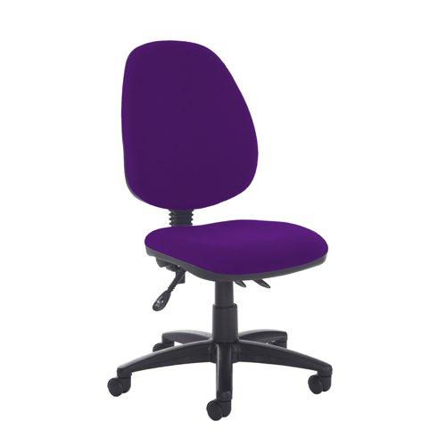 Jota high back asynchro operators chair with no arms - Tarot Purple