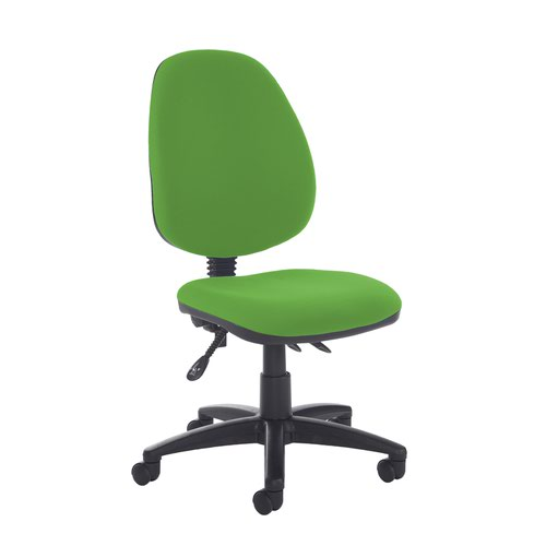 Jota high back asynchro operators chair with no arms - Lombok Green