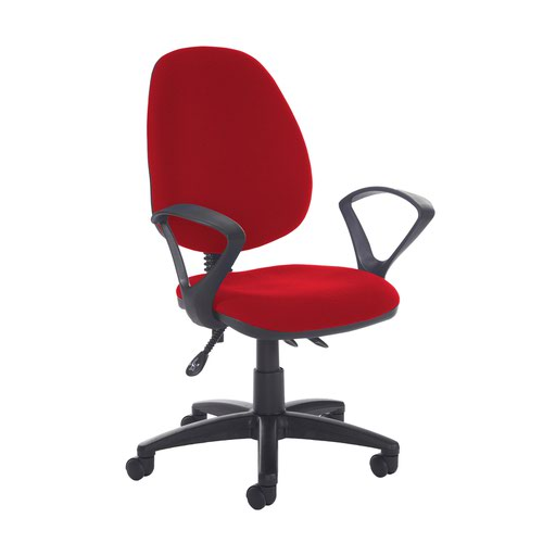 Jota high back asynchro operators chair with fixed arms - Panama Red