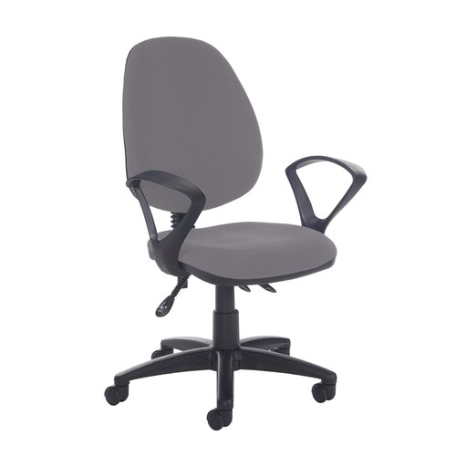 Jota high back asynchro operators chair with fixed arms - Blizzard Grey