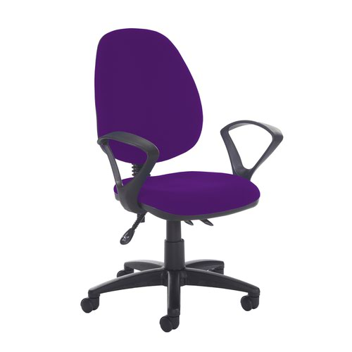 Jota high back asynchro operators chair with fixed arms - Tarot Purple