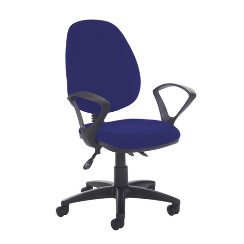 Jota high back asynchro operators chair with fixed arms - Ocean Blue