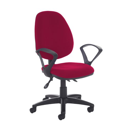 Jota high back asynchro operators chair with fixed arms - Diablo Pink