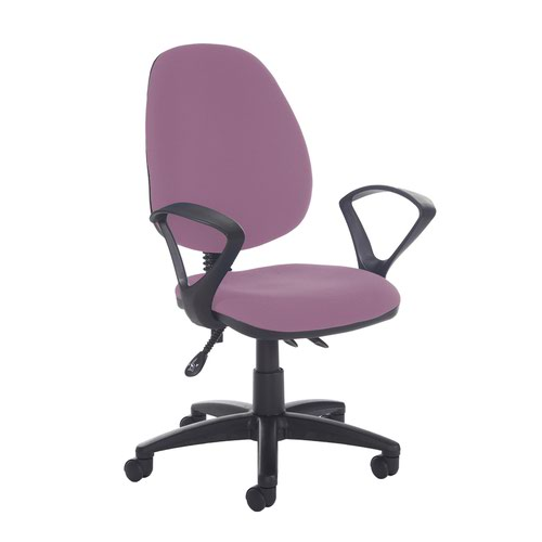 Jota high back asynchro operators chair with fixed arms - Bridgetown Purple