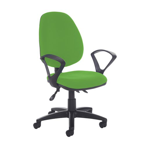 Jota high back asynchro operators chair with fixed arms - Lombok Green