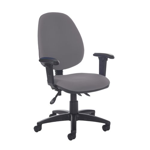 Jota high back asynchro operators chair with adjustable arms - Blizzard Grey